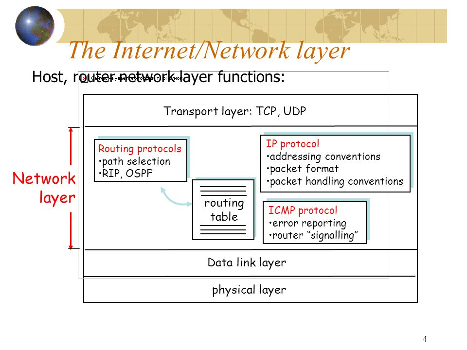 The Internet/Network layer