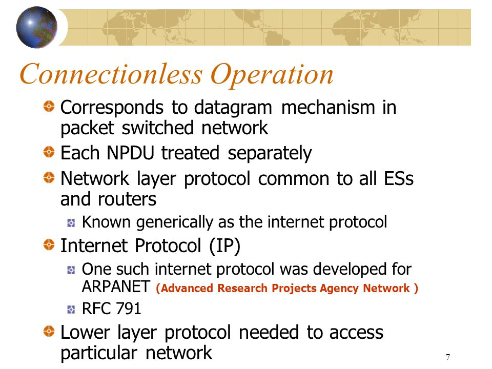 Connectionless Operation
