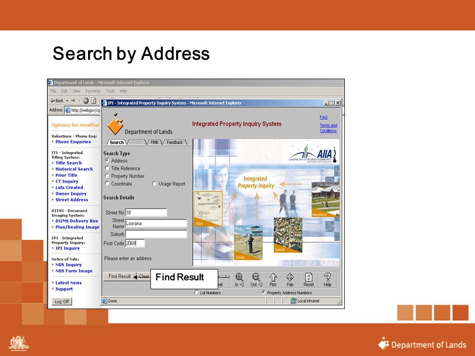 Search by Address Find Result