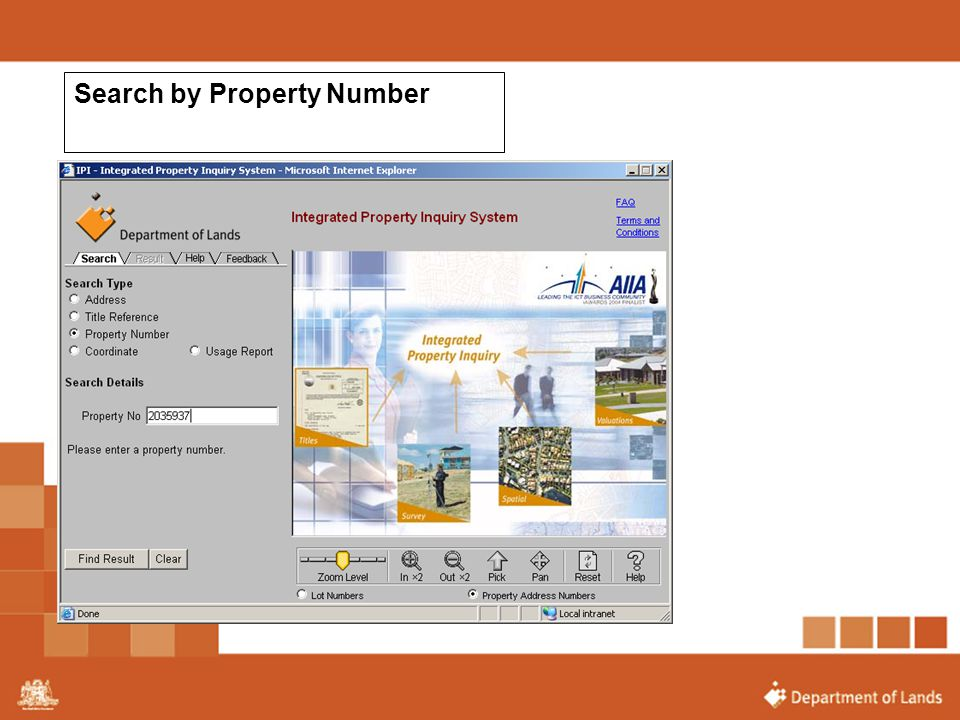 Search by Property Number