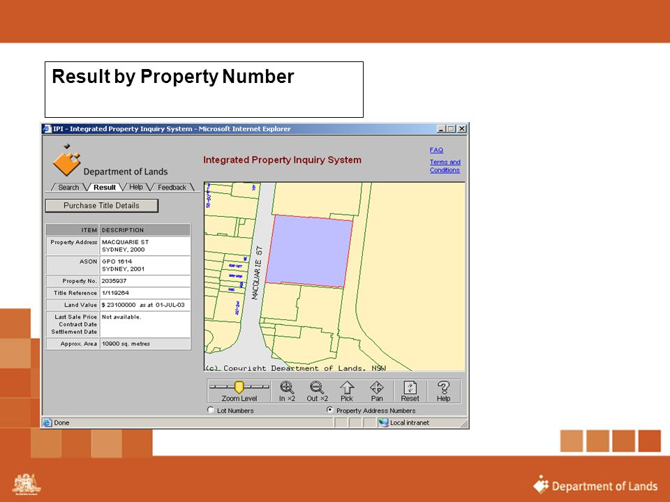 Result by Property Number