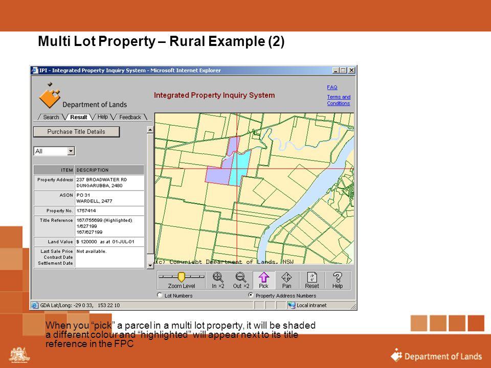 Multi Lot Property – Rural Example (2)