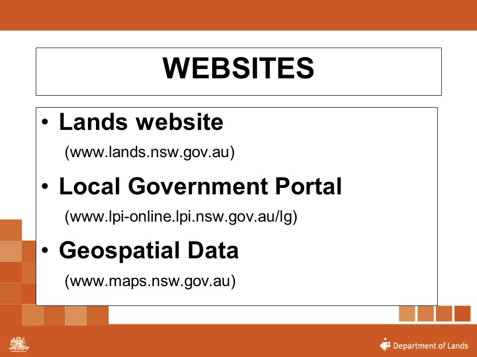 WEBSITES Lands website Local Government Portal Geospatial Data