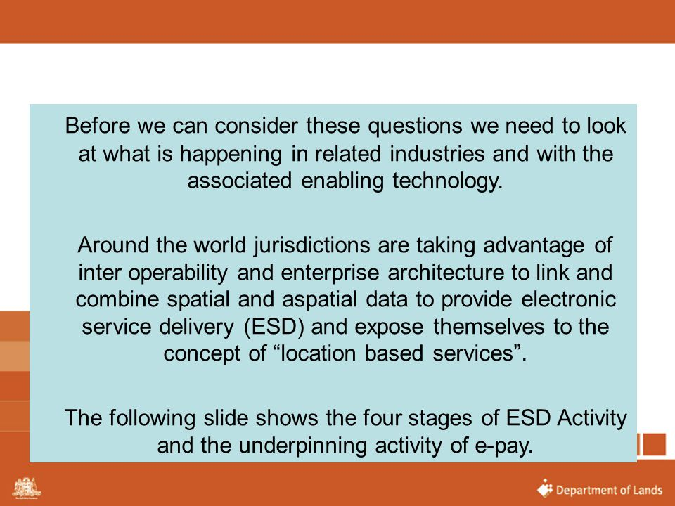 Before we can consider these questions we need to look at what is happening in related industries and with the associated enabling technology.
