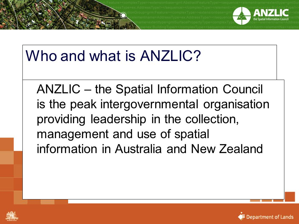 Who and what is ANZLIC