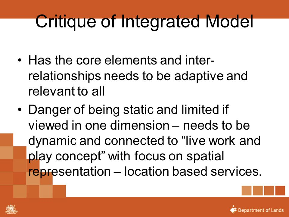 Critique of Integrated Model