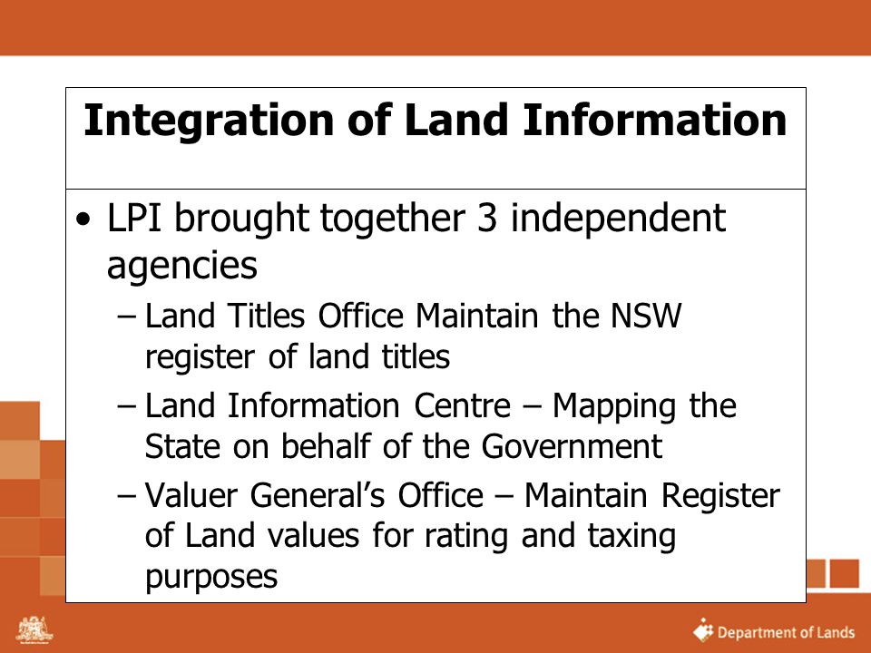 Integration of Land Information