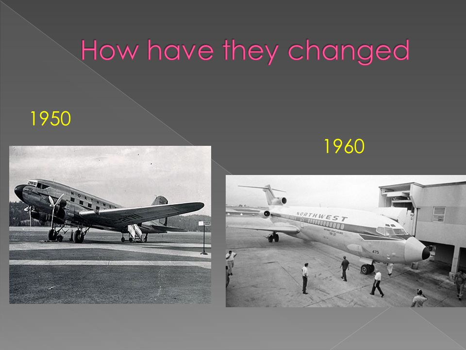 How have they changed 1950 1960