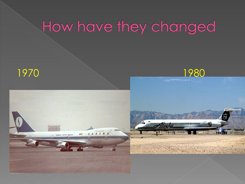 How have they changed 1970 1980