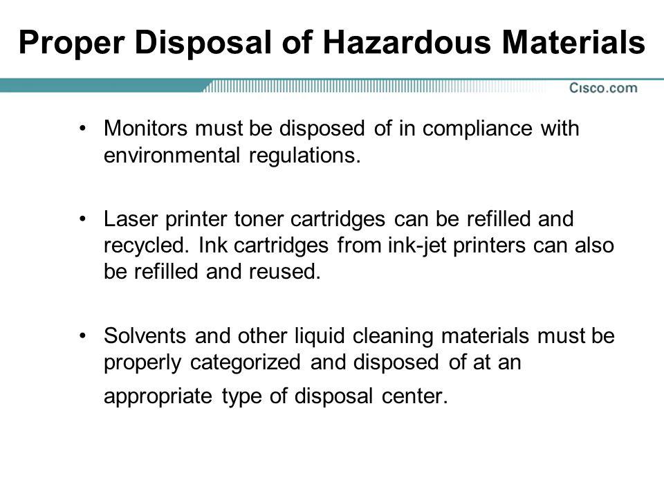 Proper Disposal of Hazardous Materials