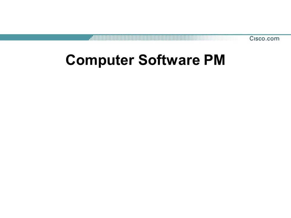 Computer Software PM