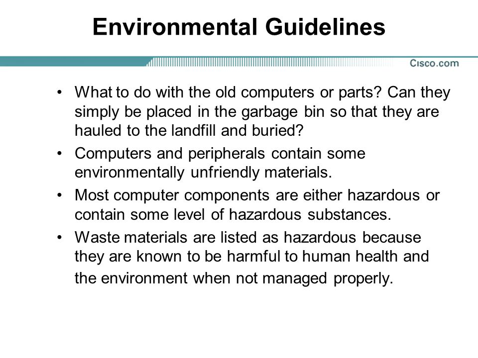 Environmental Guidelines