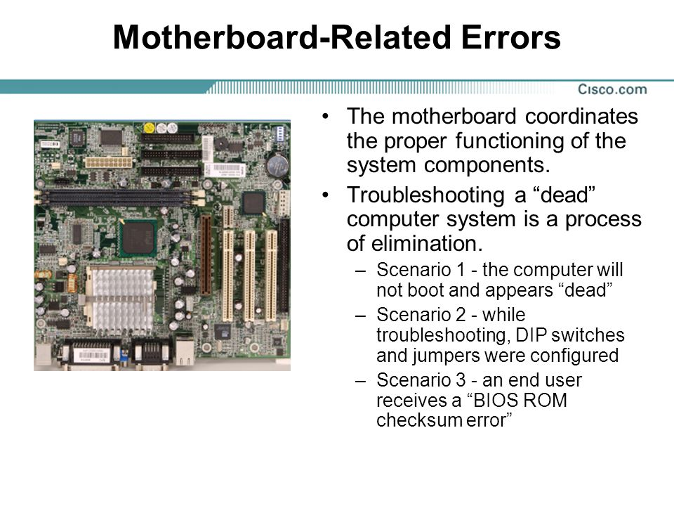Motherboard-Related Errors
