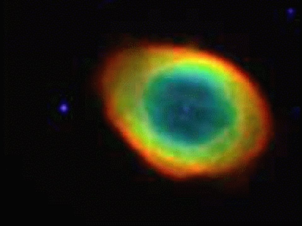 Ring Nebula – planetary nebula around a white dwarf