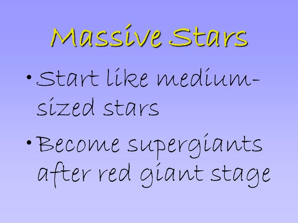 Massive Stars Start like medium-sized stars
