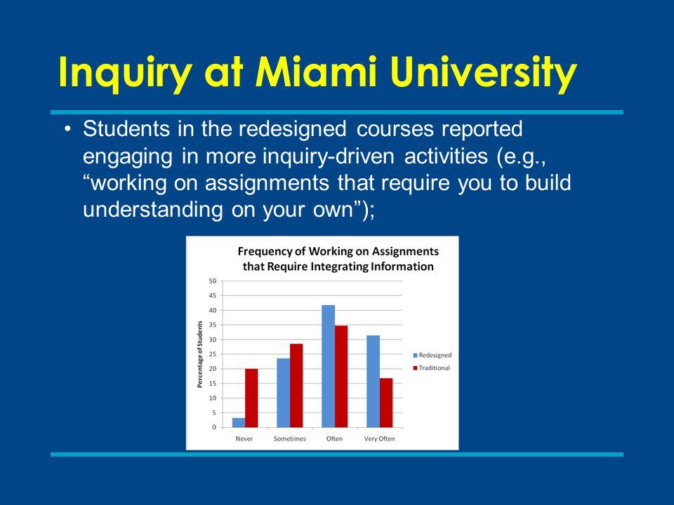 Inquiry at Miami University