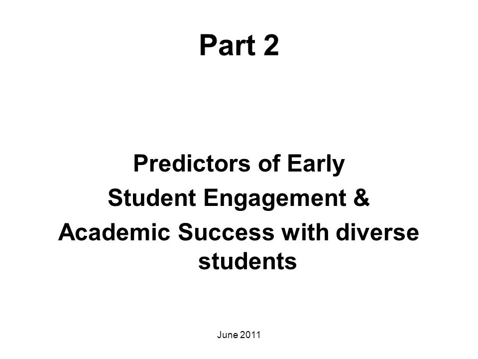 Academic Success with diverse students