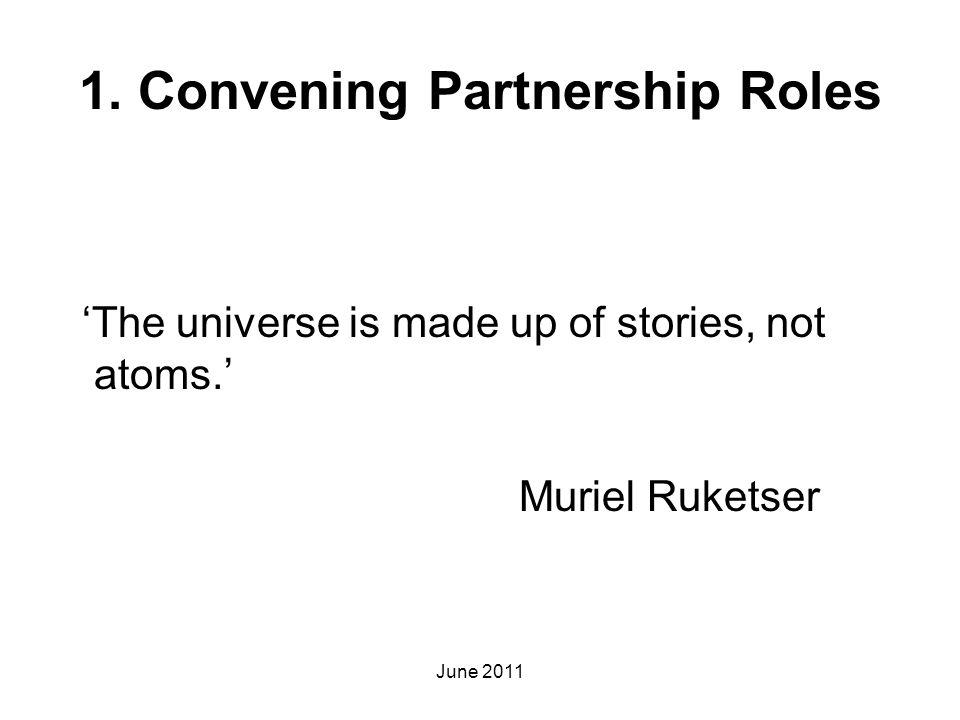 1. Convening Partnership Roles