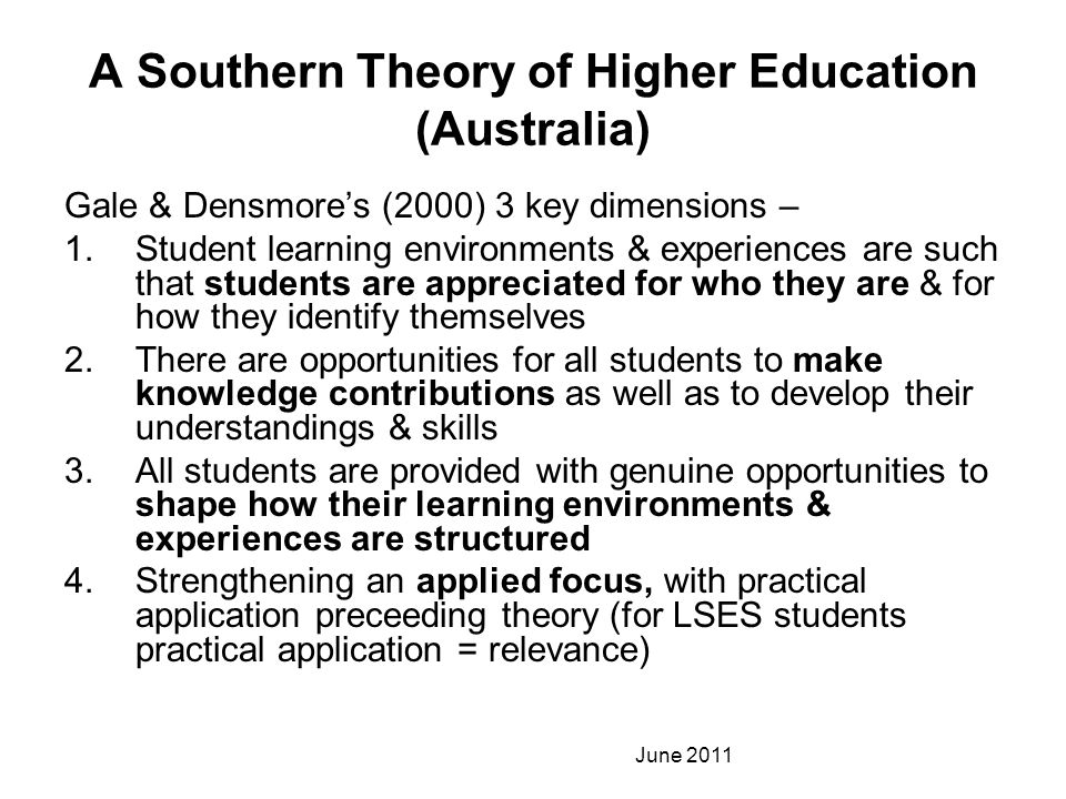 A Southern Theory of Higher Education (Australia)