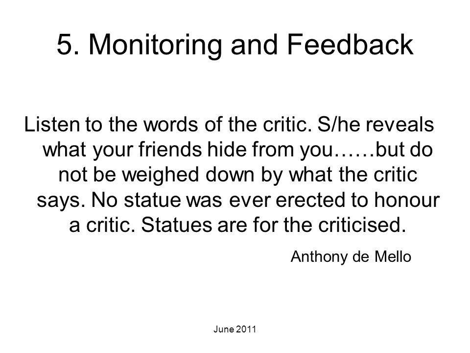 5. Monitoring and Feedback