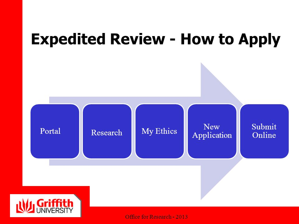 Expedited Review - How to Apply