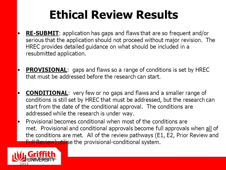 Ethical Review Results