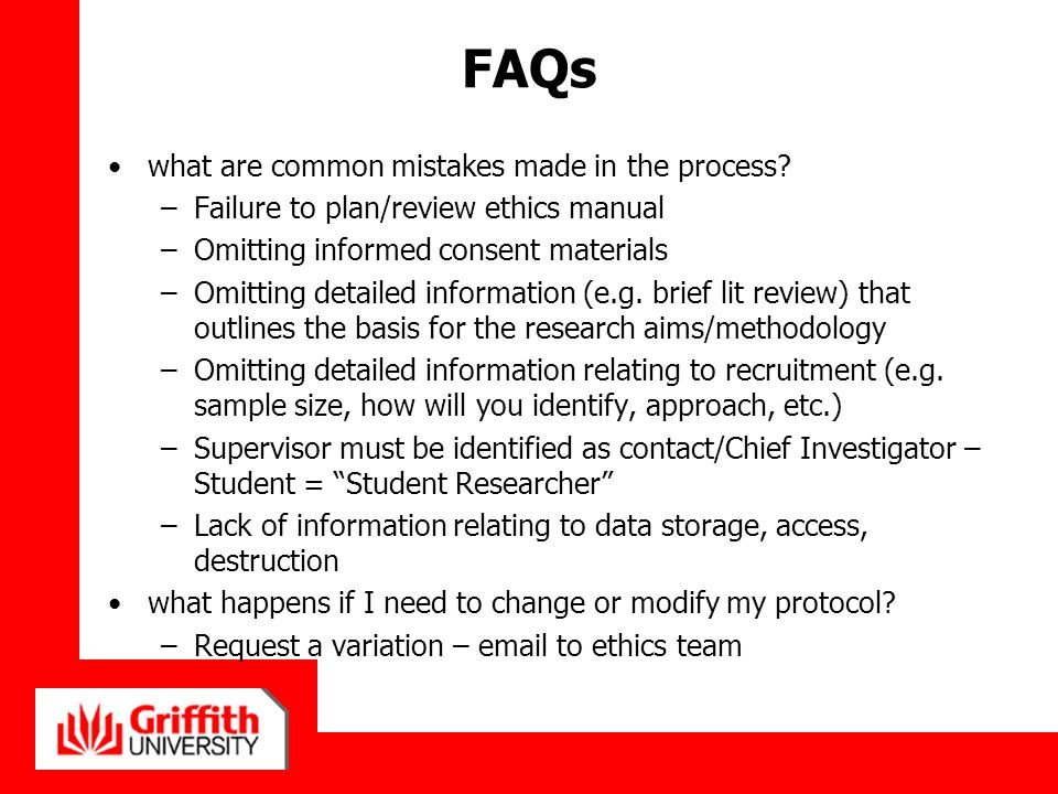FAQs what are common mistakes made in the process