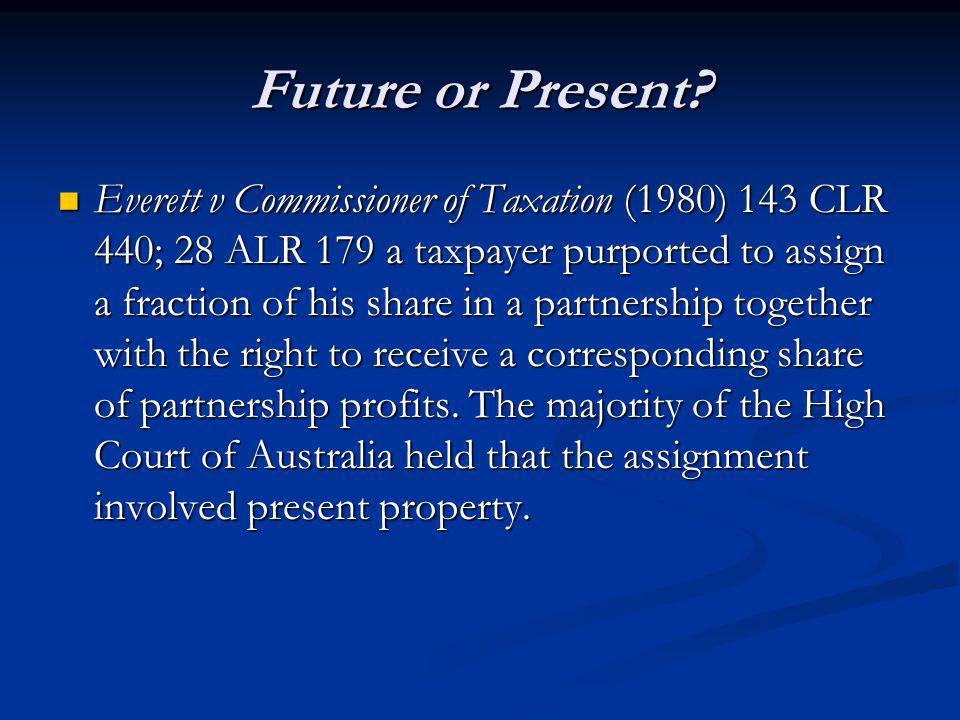 Future or Present