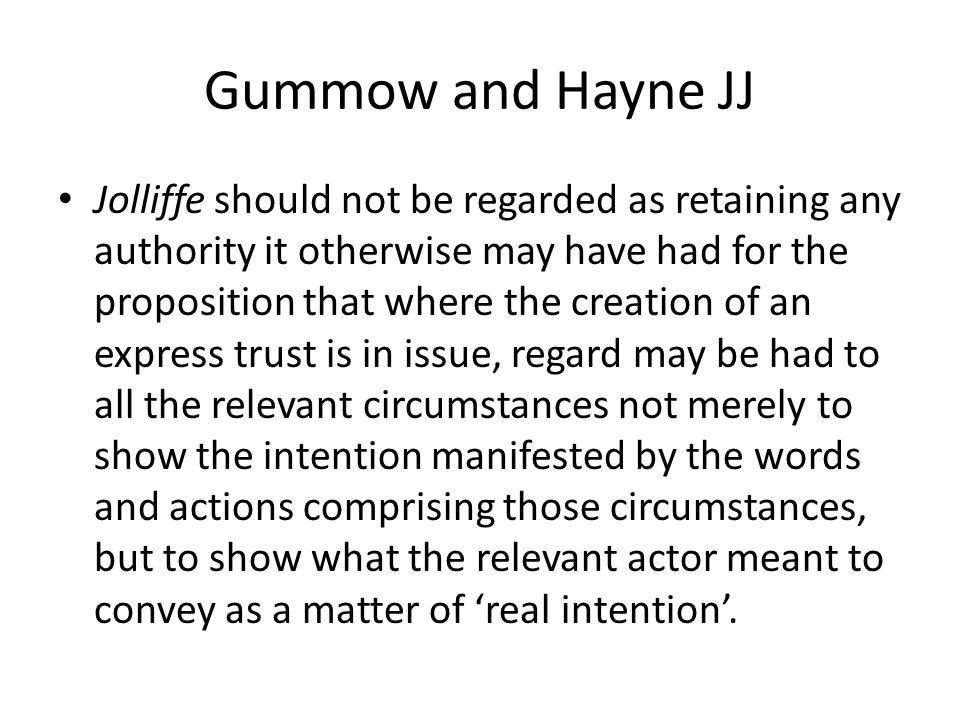 Gummow and Hayne JJ