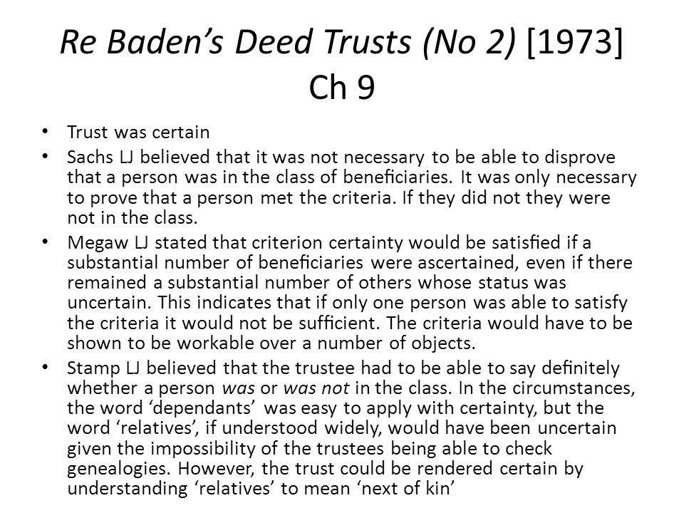 Re Baden's Deed Trusts (No 2) [1973] Ch 9