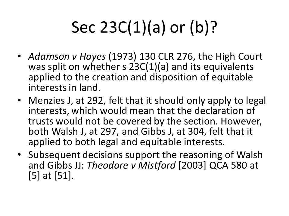 Sec 23C(1)(a) or (b)