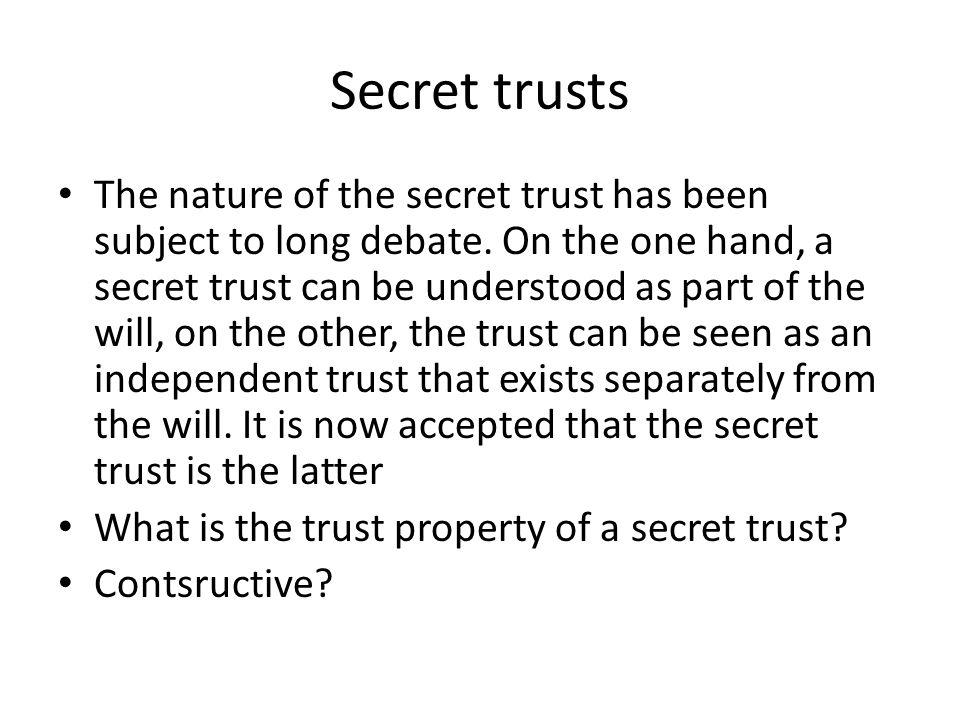 Secret trusts