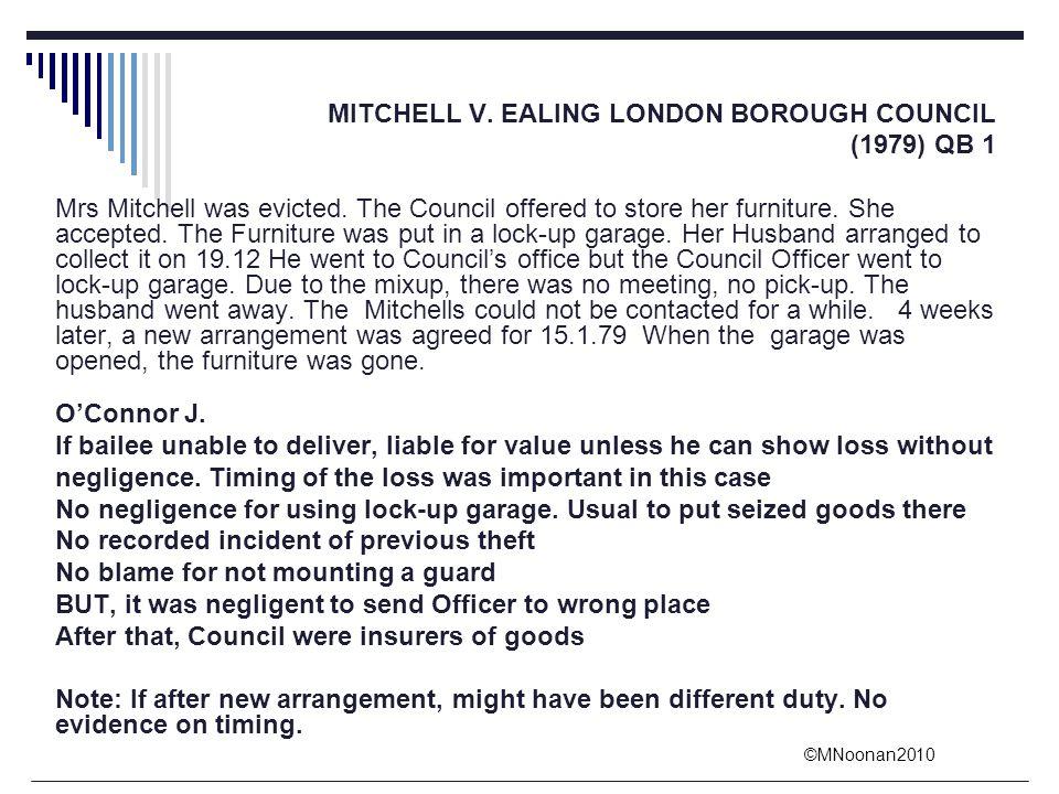 MITCHELL V. EALING LONDON BOROUGH COUNCIL
