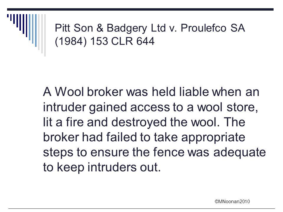 Pitt Son & Badgery Ltd v. Proulefco SA (1984) 153 CLR 644