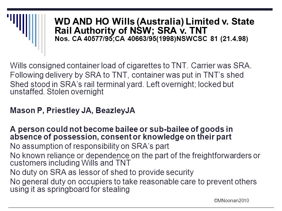 WD AND HO Wills (Australia) Limited v