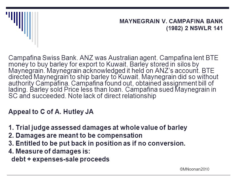 Appeal to C of A. Hutley JA