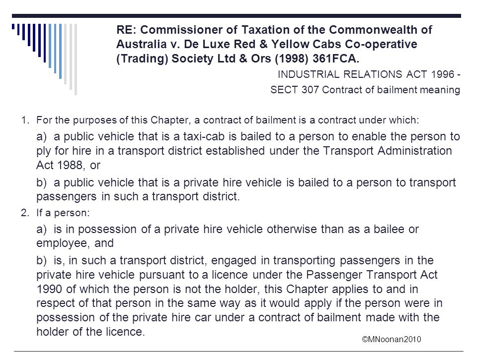 RE: Commissioner of Taxation of the Commonwealth of. Australia v
