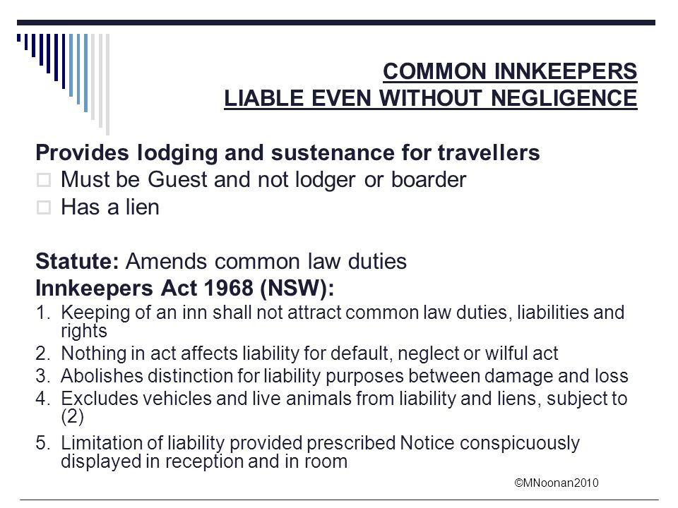 LIABLE EVEN WITHOUT NEGLIGENCE