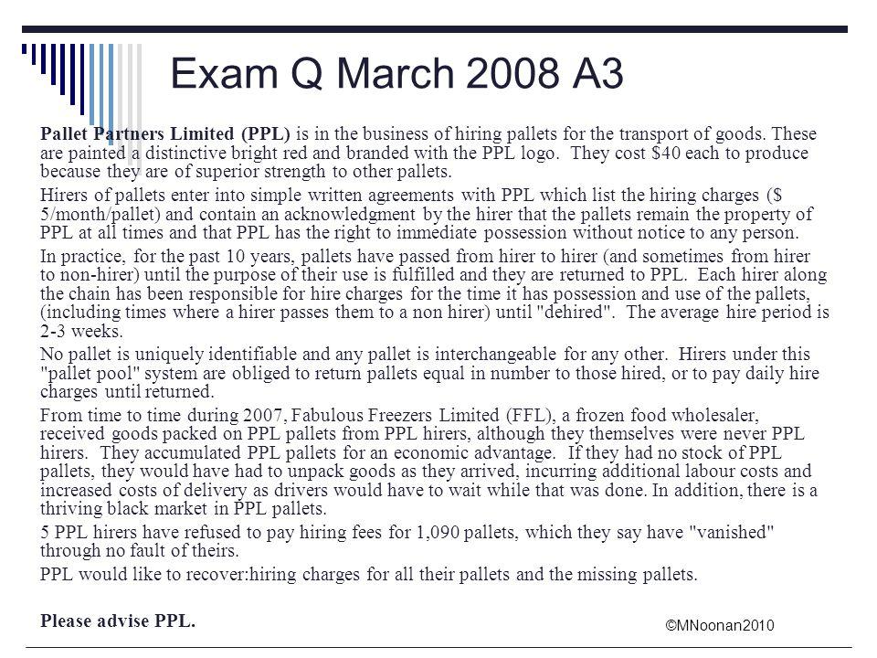 Exam Q March 2008 A3