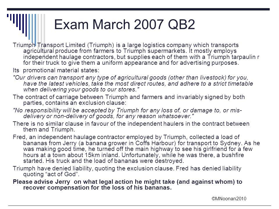 Exam March 2007 QB2
