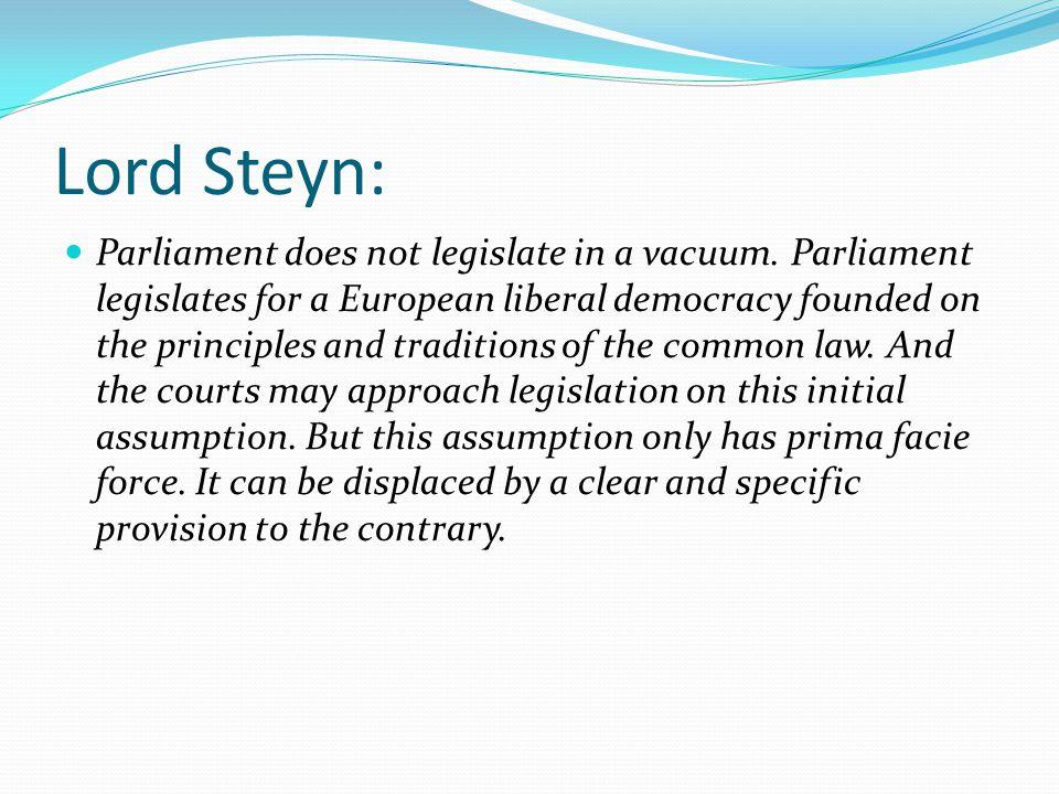 Lord Steyn: