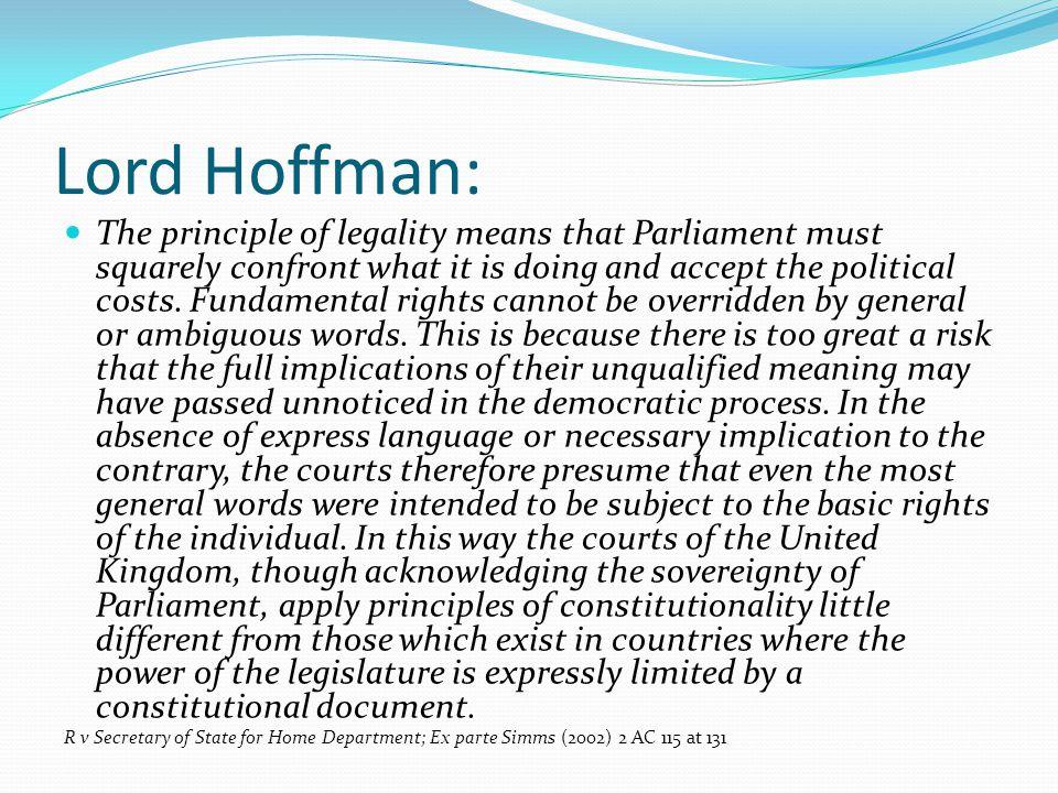 Lord Hoffman: