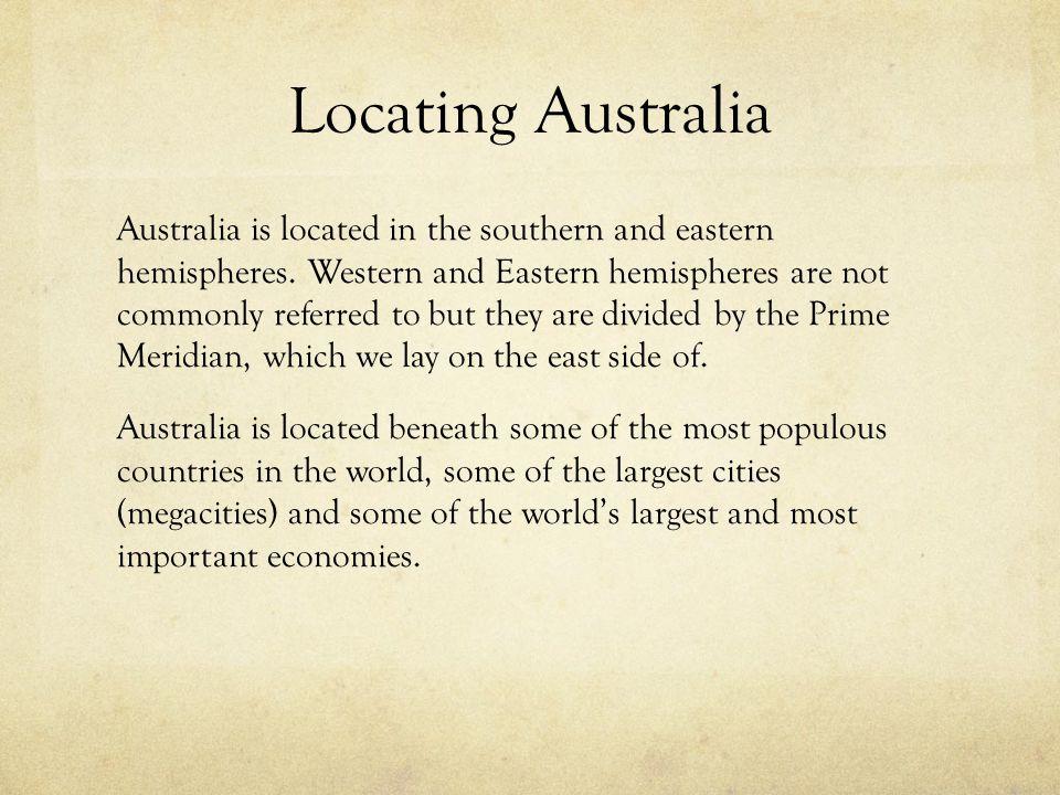 Locating Australia