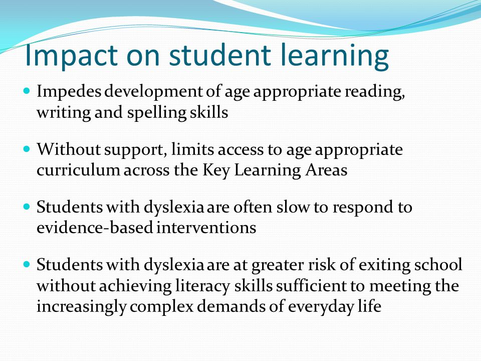 Impact on student learning