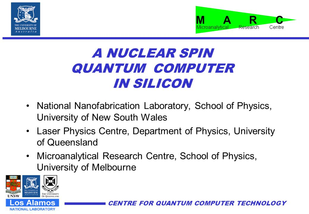 A NUCLEAR SPIN QUANTUM COMPUTER IN SILICON