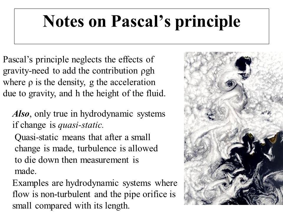 Notes on Pascal's principle