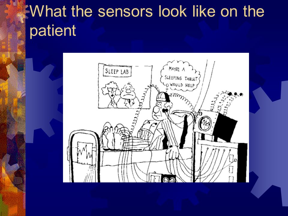 What the sensors look like on the patient