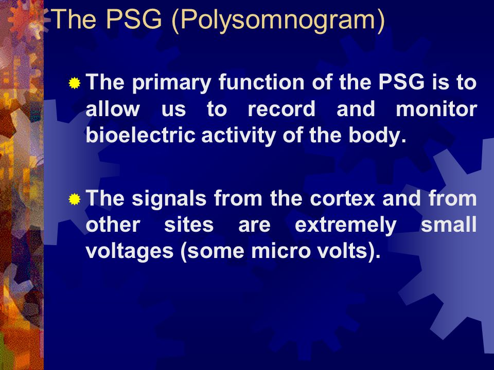 The PSG (Polysomnogram)