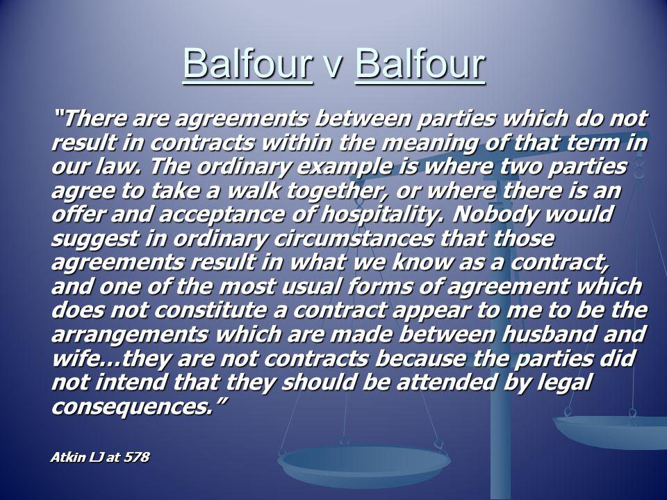 Balfour v Balfour