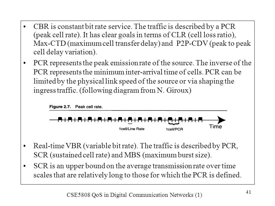 CBR is constant bit rate service